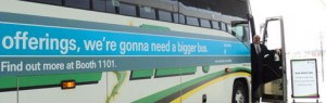 Photo: Graphics on side of bus